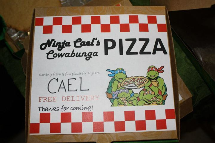 """Each kid got a pizza box with a giant cookie (""""pizza"""") in it that we decorated"""