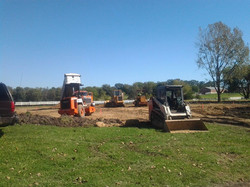 Site prep for new building