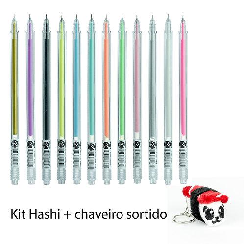 Hashi Gel Pen - Ed. Limitada Diário da Carol 12un + Chaveiro Sortido