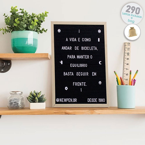 Quadro Decorativo Recado Letter Board 40x50