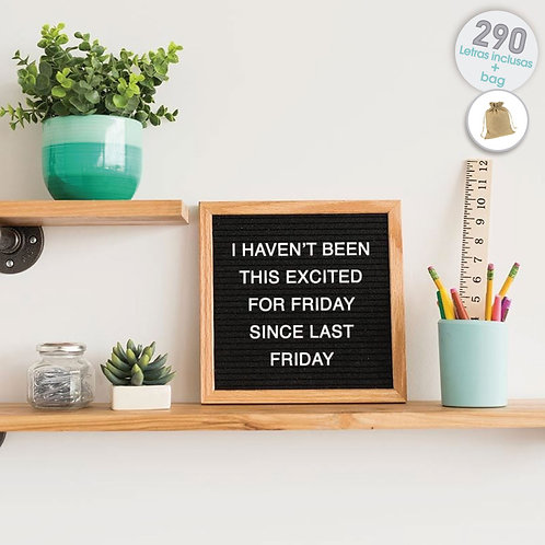 Quadro Decorativo Recado Letter Board 25x25