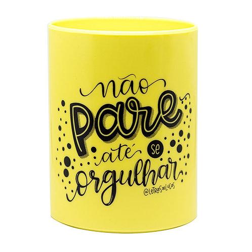 Porta Caneta Colecionáveis UP Amarelo
