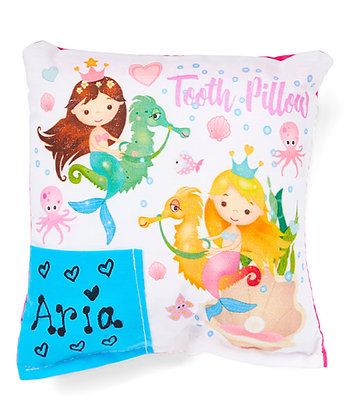 Mermaid Seahorse Tooth Fairy Pillow