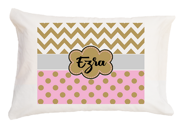 Ezra Style w/Custom Name Standard Pillowcase