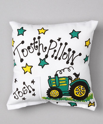 Tractor Tooth Pillow for Boys