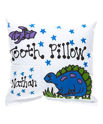 Blue Dinosaur Tooth Pillow for Boys