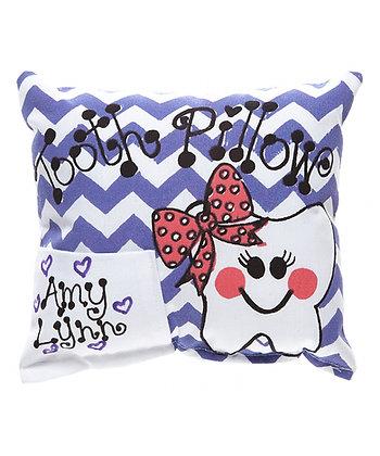 Purple Girls Chevron Tooth Pillow