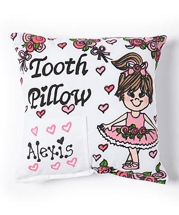 Brunette Ballerina Tooth Pillow