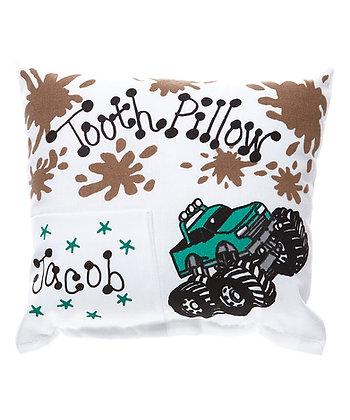 Monster Truck Tooth Pillow