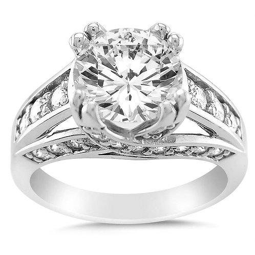 14k White Gold 2 1/2ct TGW Round-cut Diamonette Engagement Ring