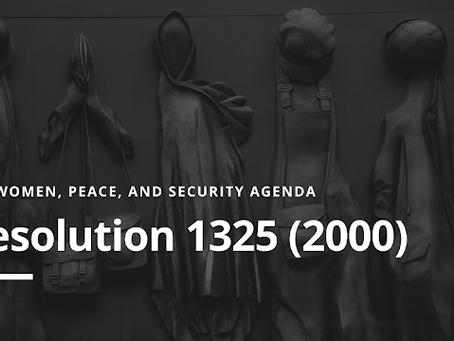 WPS Agenda: Resolution 1325