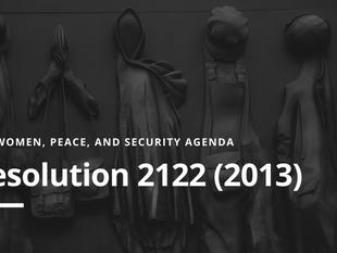 WPS Agenda: Resolution 2122(2013)