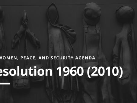 WPS Agenda: Resolution 1960 (2010)