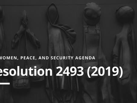 WPS Agenda: Resolution 2493 (2019)