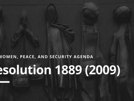 WPS Agenda: Resolution 1889 (2009)