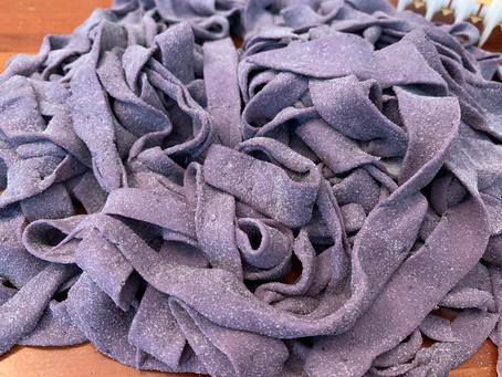 Blueberry Tagliatelle with Porcini Mushrooms & Rosemary