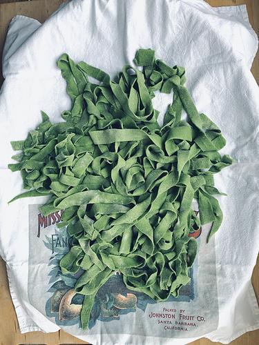 Fresh Spinach Vegan  Tagliatelle.heic