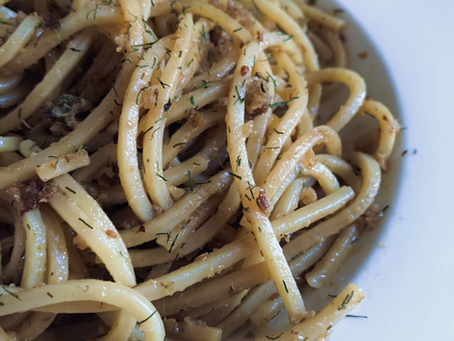 Maritime Spaghetti with Lemon, Dill and Capers
