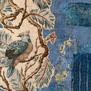 Indigo Bird- detail
