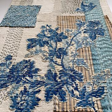 Blue toile- detail