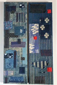 Abstract Japanese textile panels
