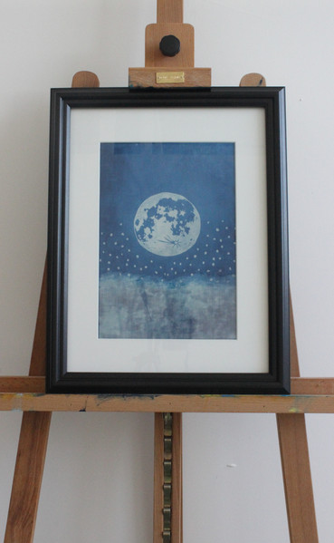 Moon over clouds. SOLD