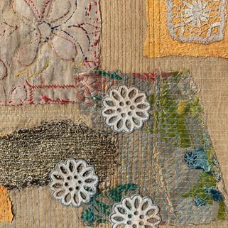 Antique patchwork- detail