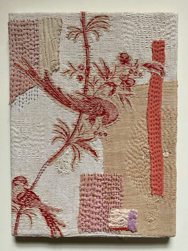 Red toile birds