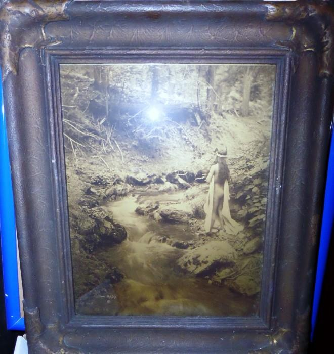 The Maid of Dreams - original Edward S. Curtis photo large 9 1-2 by 14