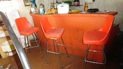 the best orange retro 1960's bar with chairs all original