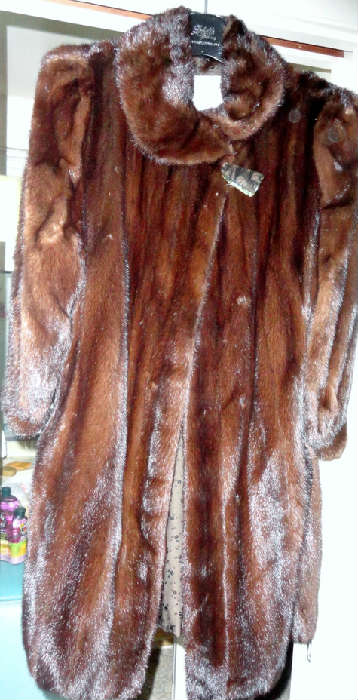 vintage 40's mink coat
