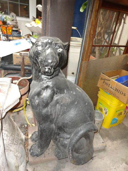 Great concrete black panther