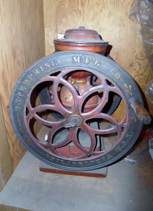 Antique Enterprise coffee grinder
