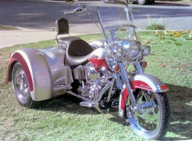 2003 Harley-Davidson FLSTC_FLSTCI Heritage Softail Classic - Red and Silver