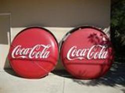 1950s Coca Cola button signs