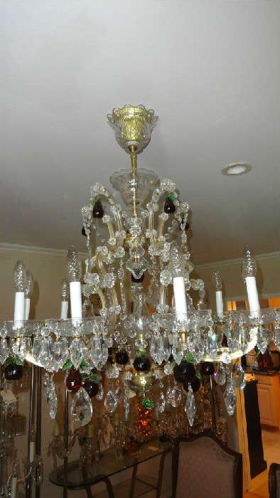 large baccarat chandelier