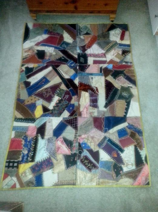 Victorian silk quilt