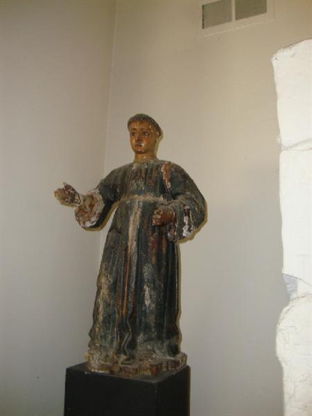 Antique wood carved Santos statue