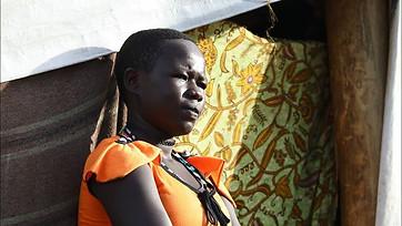 Refugee girls in Uganda