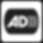 Audio Description logo black shape with