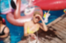 hamptons pool party model sun summer phone swim