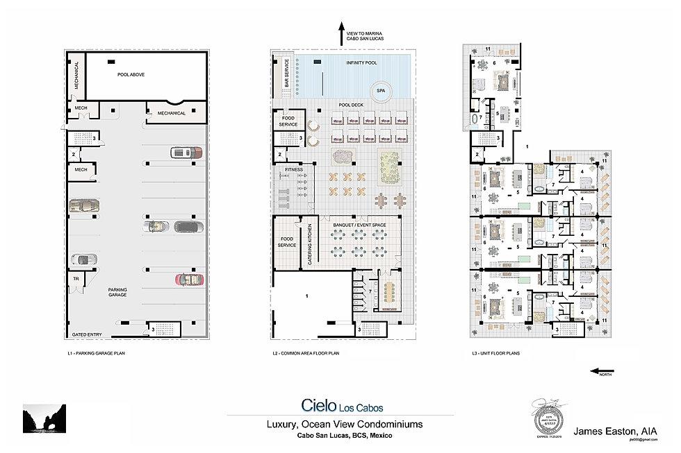 Floor Plans Cielo Los Cabos Cabo San Lucas