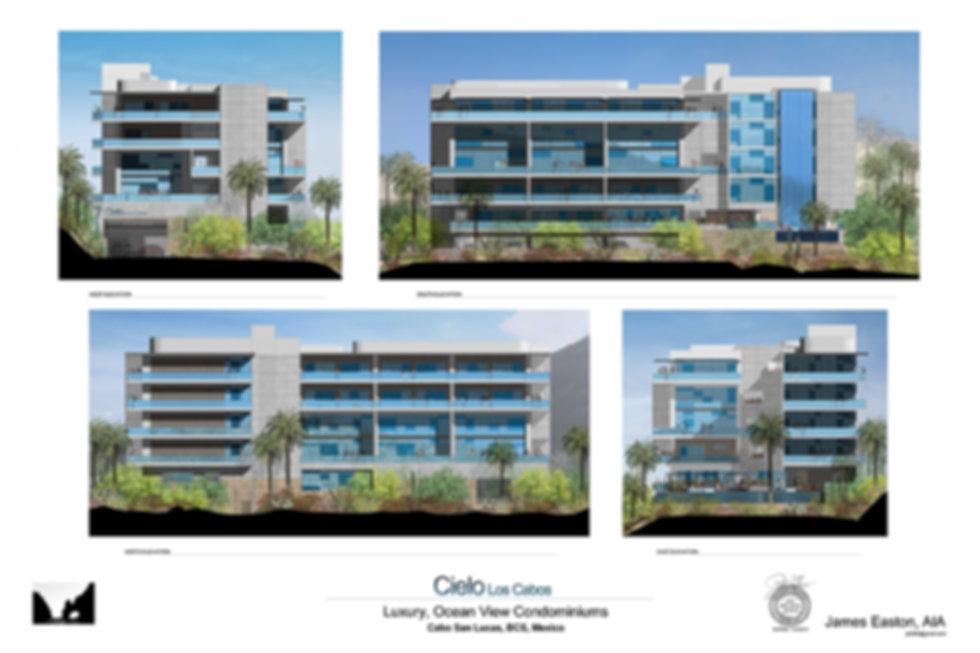Building Elevations Cielo Los Cabos Condominiums Cabo San Lucas BCS Mexico
