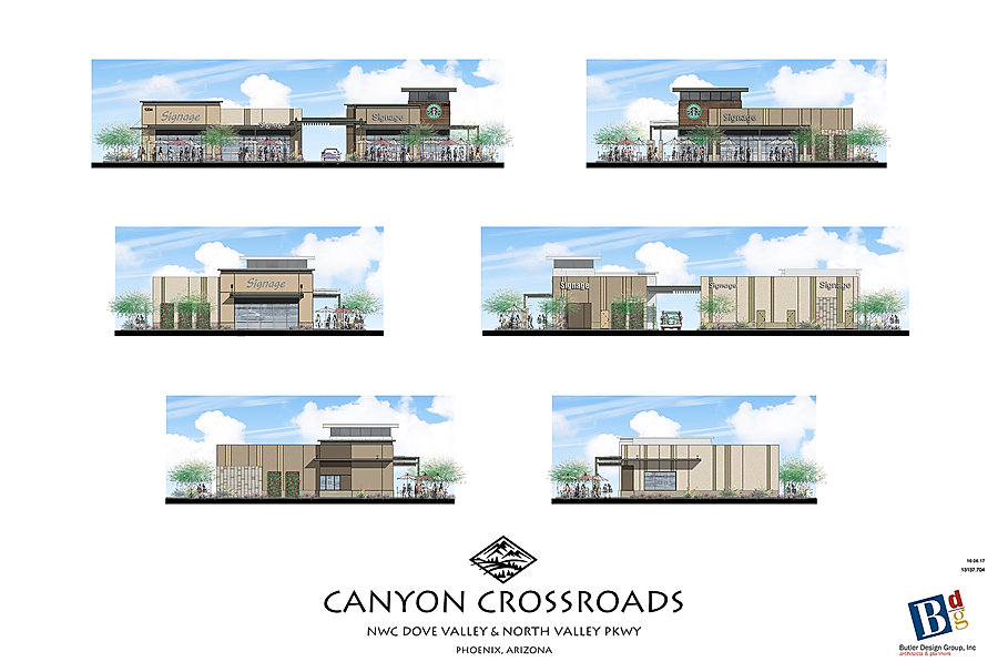 Retail Shop Architecture Canyoon Crossroads Phoenix Arizona