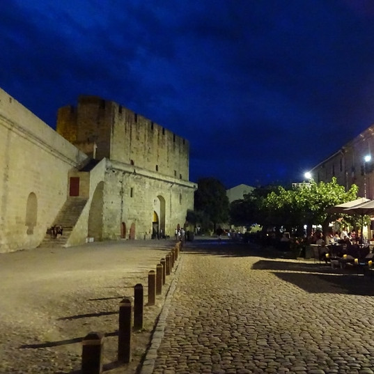 Aigues Mortes by night.