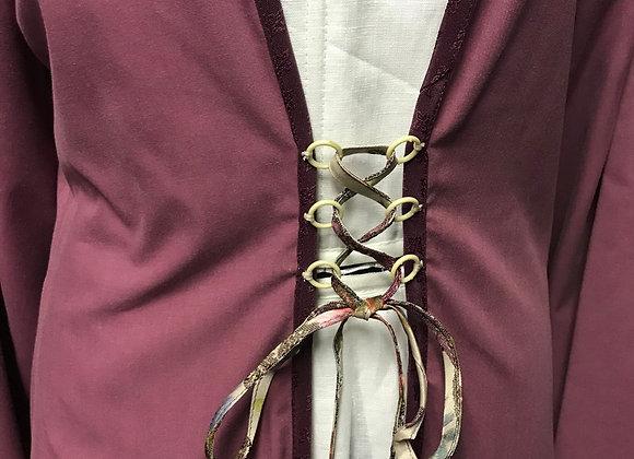 Plum & Brocade gown.