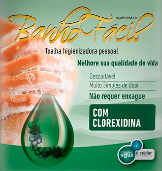 Banho Fácil CLOREXIDINA:  pré e pós-operatório