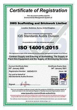 DWG Scaffolding-brickwork 14001 Cert UKE