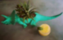 Two of my favorite things_ plants in turquoise plastic dinosaurs and #pinacolada specials_edited_edi