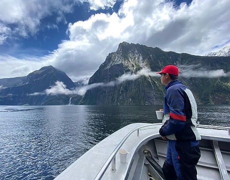 Faisal in Milford Sound